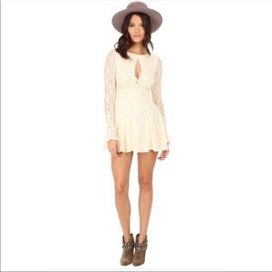 Free People Shearling Teen Witch cream lace dress